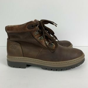 Timberland Nubuck Brown Leather Hiking Boots